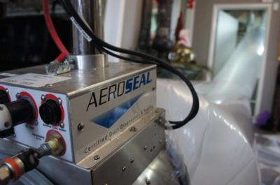 Aeroseal duct sealing at work