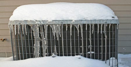 HVAC Unit in Snow, 560x300