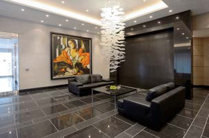 Lobby of The MuseumHouse Luxury Condominium Living
